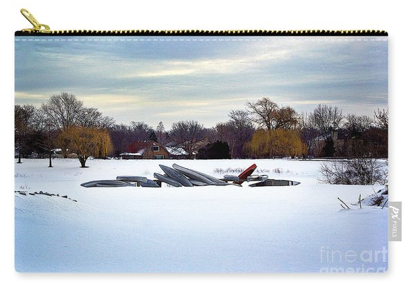 Canoes In The Snow Carry-all Pouch