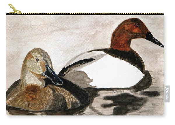 Canvasback Couple Carry-all Pouch