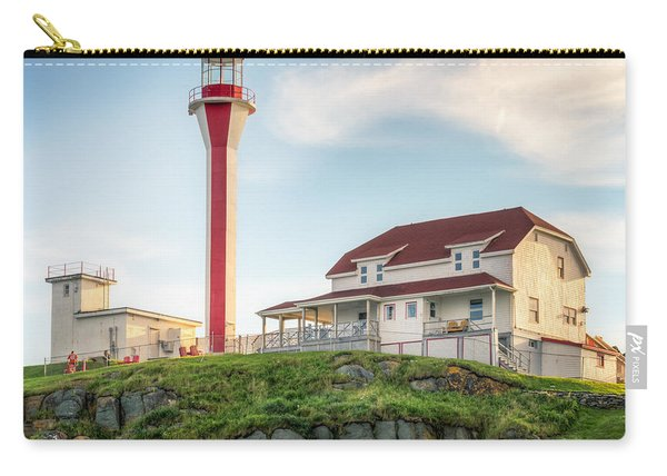 Carry-all Pouch featuring the photograph Cape Forchu Lighthouse by Garvin Hunter