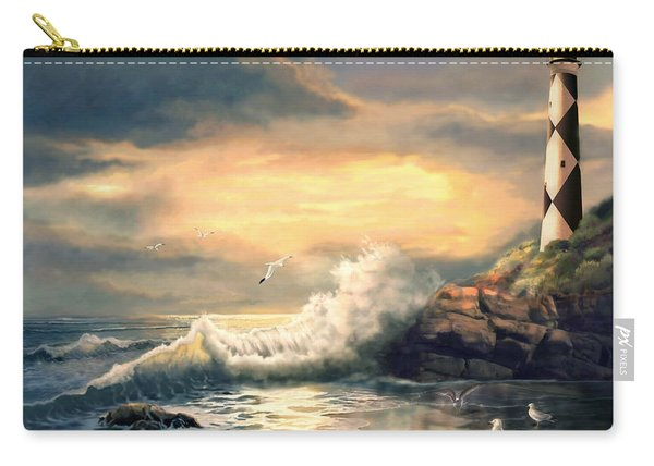 Twindeling Light Cape Lookout Lighthouse North Carolina At Sunset  Carry-all Pouch