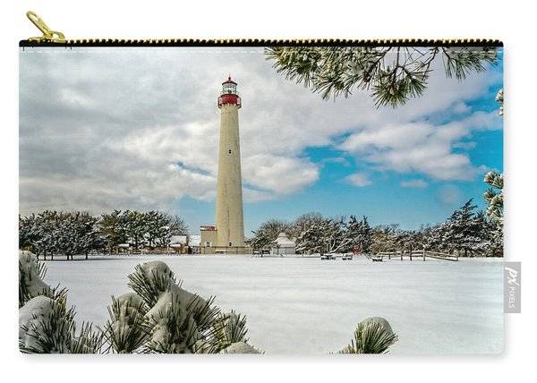 Cape May Light Thru Snowy Trees Carry-all Pouch