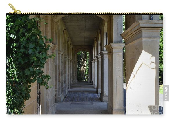 Carry-all Pouch featuring the photograph Captain Cook Museum Walkway by Scott Lyons