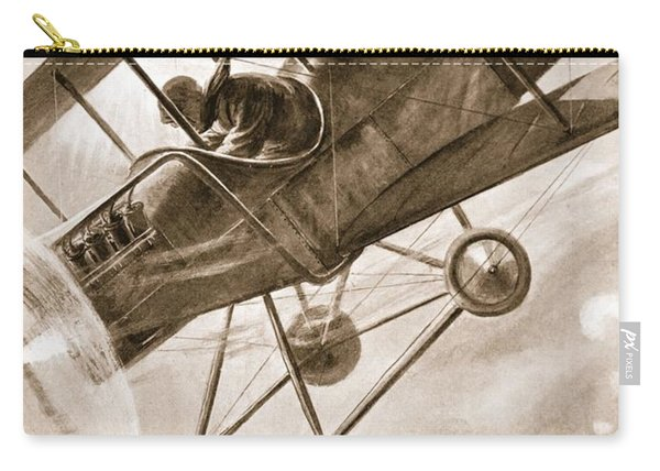 Captain Liddell Piloting His Aeroplane Carry-all Pouch