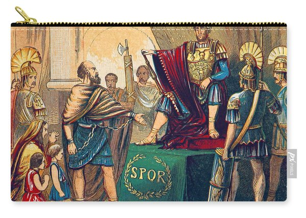 Caractacus Before Emperor Claudius, 1st Carry-all Pouch