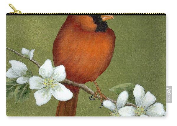 Cardinal And Dogwood Carry-all Pouch