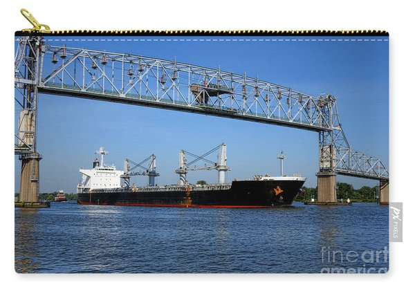 Cargo Ship Under Bridge Carry-all Pouch