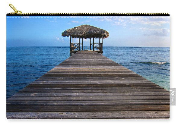 Carry-all Pouch featuring the photograph Caribbean Dock by Mary Lee Dereske