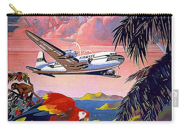 Caribbean Vintage Travel Poster Carry-all Pouch