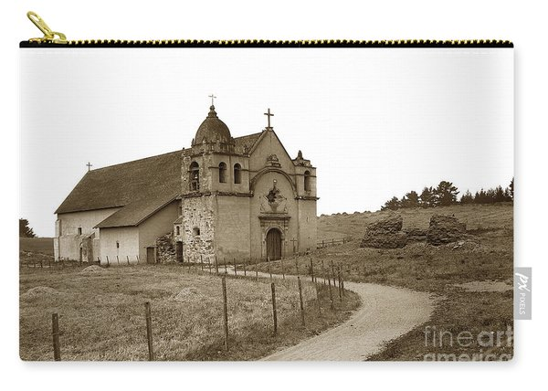 Carmel Mission Monterey Co. California Circa 1890 Carry-all Pouch