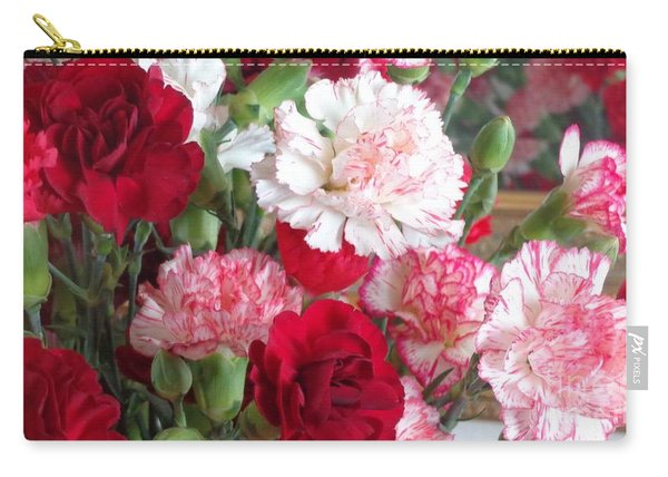 Carnation Cluster Carry-all Pouch