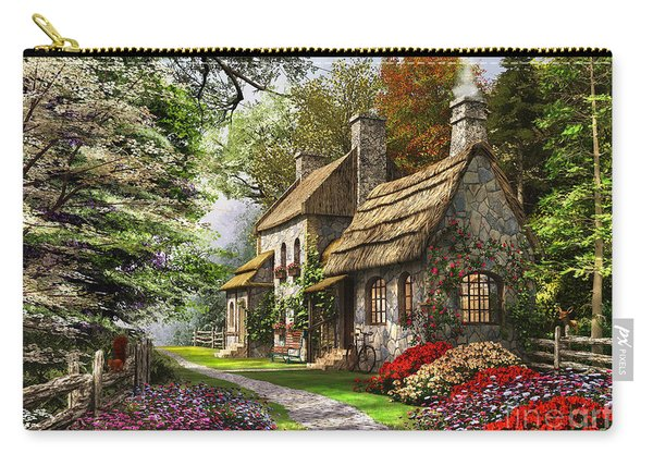 Carnation Cottage Carry-all Pouch