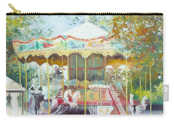 Carousel In Montmartre Paris Carry-all Pouch