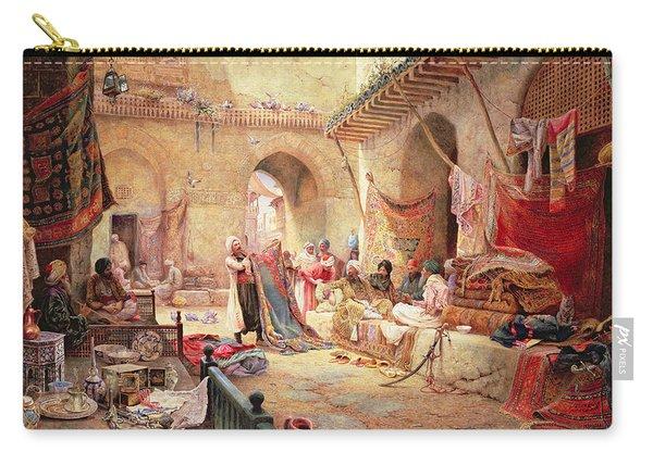 Carpet Bazaar, Cairo, 1887 Carry-all Pouch