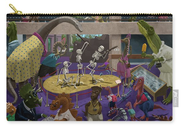 Cartoon Dinosaur Museum Carry-all Pouch
