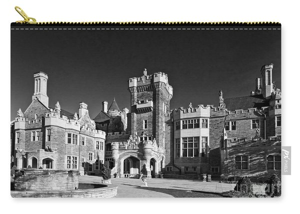 Casa Loma In Toronto In Black And White Carry-all Pouch