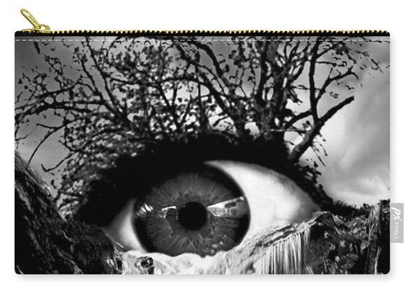 Cascade Crying Eye Grayscale Carry-all Pouch
