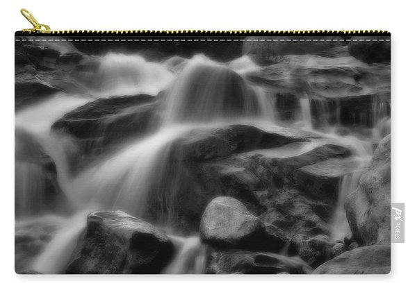 Cascades In Black And White Carry-all Pouch