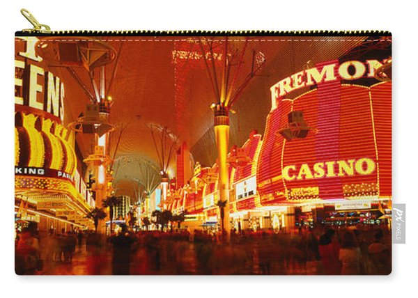Casino Lit Up At Night, Fremont Street Carry-all Pouch