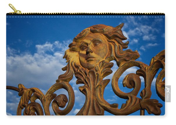 Carry-all Pouch featuring the photograph Cast Iron Maiden Of The Sky by Mary Lee Dereske