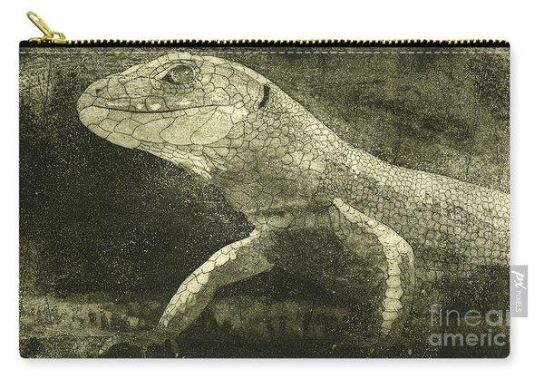 casual meeting Reptile Viviparous Lizard  Lacerta vivipara Carry-all Pouch