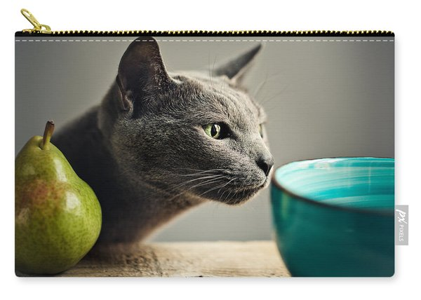 Cat And Pears Carry-all Pouch