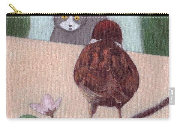 Cat And Sparrow  Carry-all Pouch