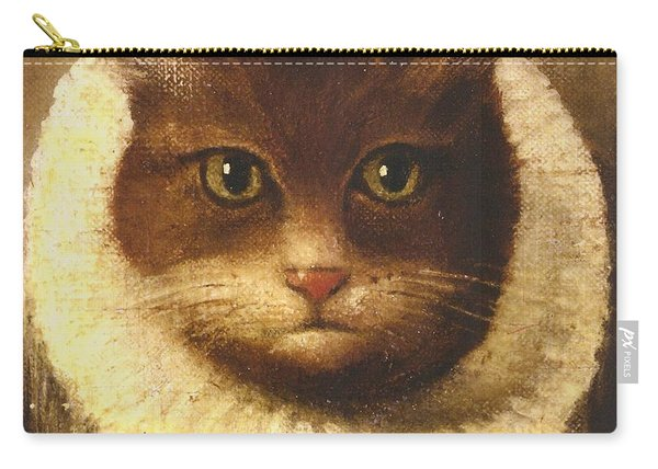 Cat In A Ruff Carry-all Pouch