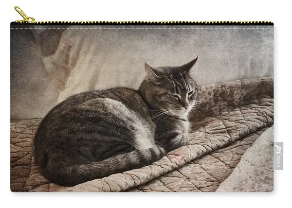 Cat On The Bed Carry-all Pouch