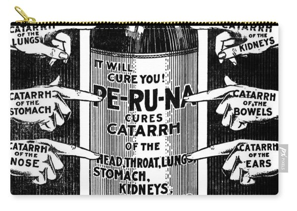 Catarrh Cure For What Ails You C. 1905 Carry-all Pouch