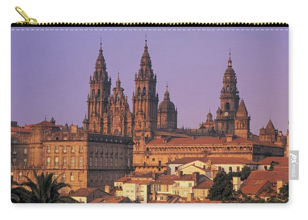 Cathedral In A Cityscape, Santiago De Carry-all Pouch