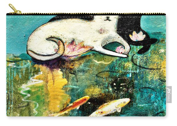 Cats With Koi Carry-all Pouch