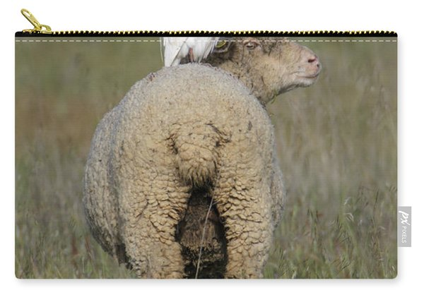 Cattle Egret On Sheep Carry-all Pouch