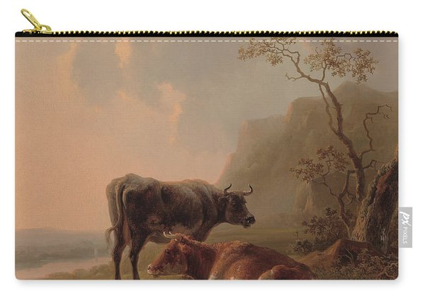 Cattle In An Italianate Landscape Carry-all Pouch