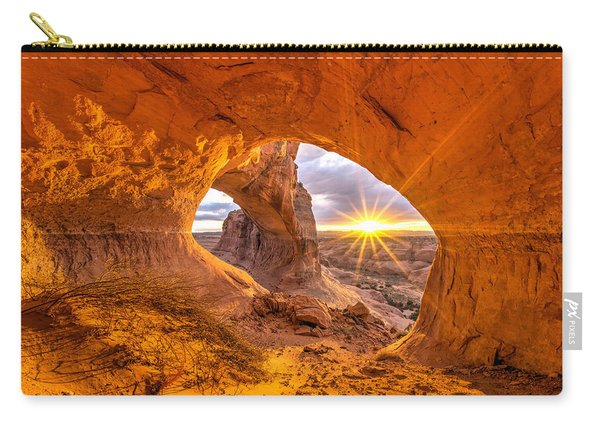 Carry-all Pouch featuring the photograph Cave Arch by Dustin  LeFevre