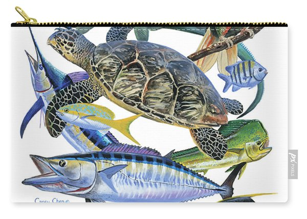 Cayman Collage Carry-all Pouch
