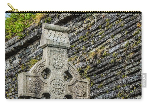 Celtic Cross At Kilmurry-ibrickan Church Carry-all Pouch