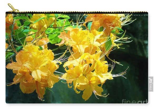 Centered Yellow Floral Carry-all Pouch
