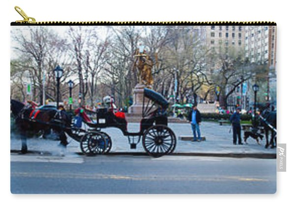 Central Park Horse Carriage Station Panorama Carry-all Pouch