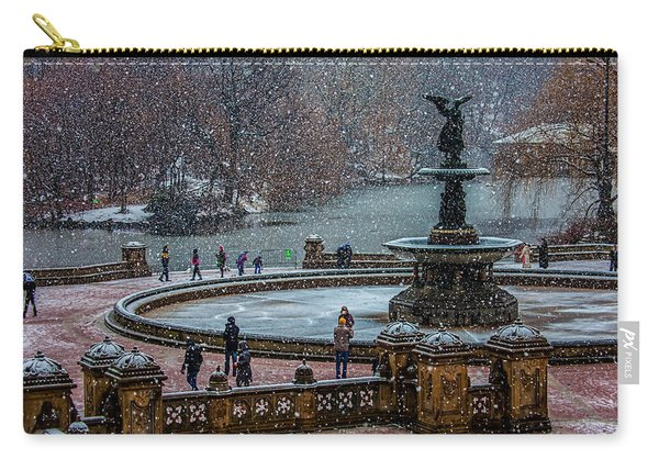 Central Park Snow Storm Carry-all Pouch