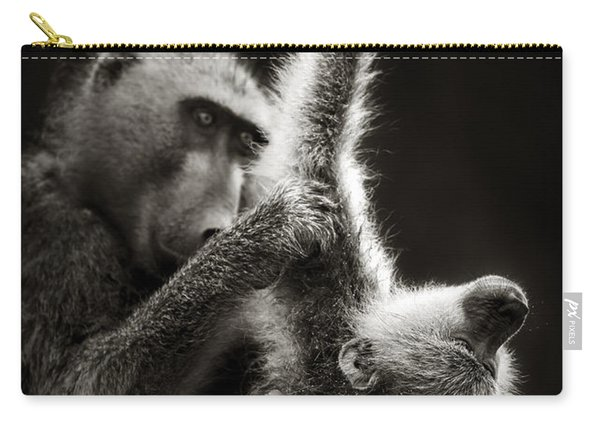 Chacma Baboons Grooming Carry-all Pouch