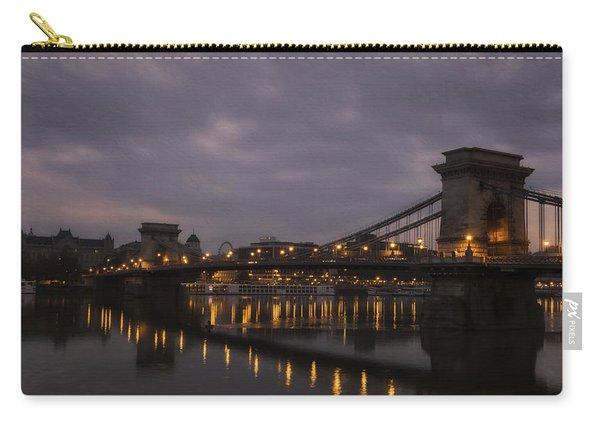 Chain Bridge Dawn Carry-all Pouch