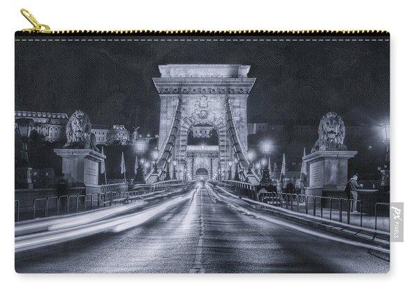Chain Bridge Night Traffic Bwii Carry-all Pouch