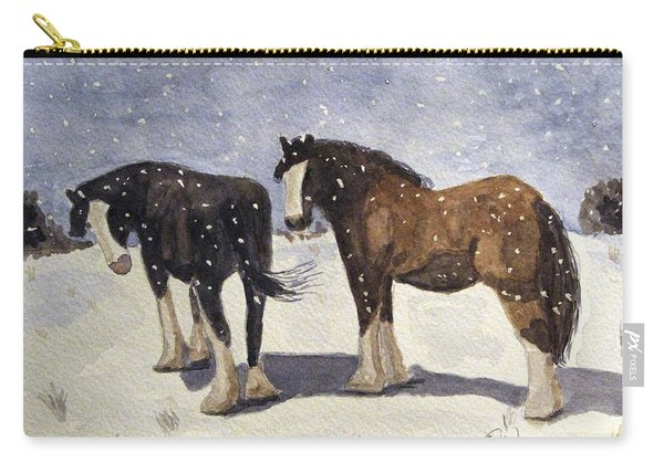 Chance Of Flurries Carry-all Pouch