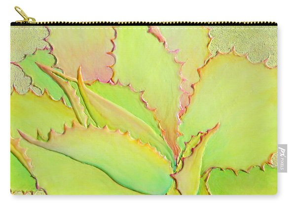 Carry-all Pouch featuring the painting Chantilly Lace by Sandi Whetzel