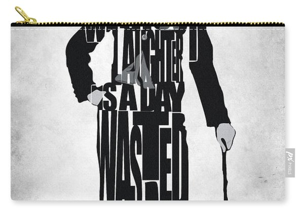 Charlie Chaplin Typography Poster Carry-all Pouch