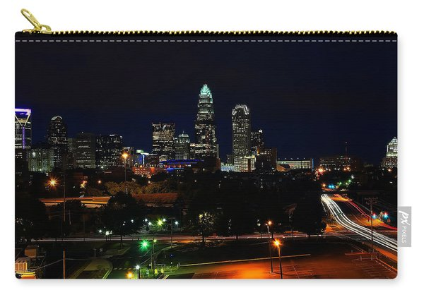 Charlotte Nc At Night Carry-all Pouch