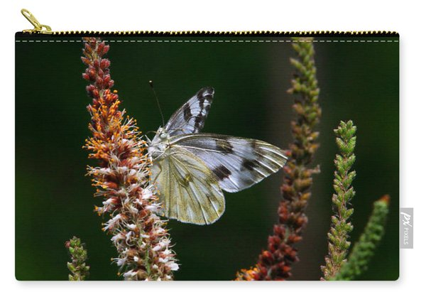 Checkered White On An Indigo Carry-all Pouch