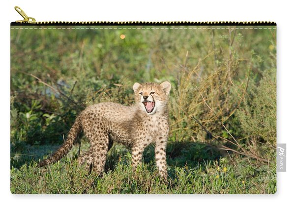 Cheetah Cub Acinonyx Jubatus Yawning Carry-all Pouch