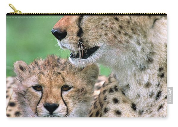 Cheetah Mother And Cub Carry-all Pouch