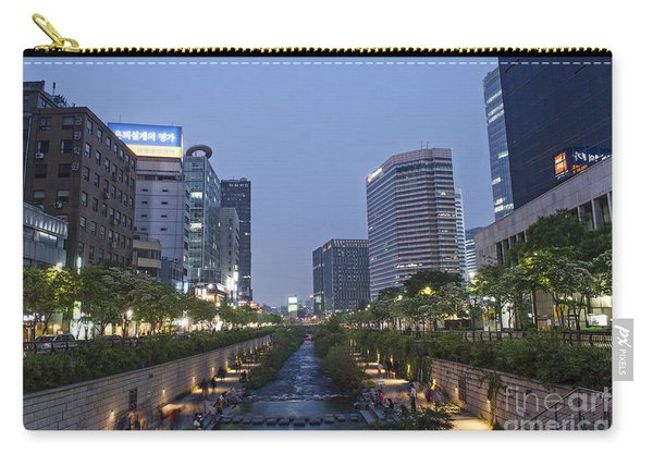 Cheonggyecheon Stream In Seoul South Korea Carry-all Pouch